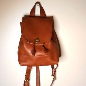 Coach brown leather vintage backpack bag